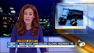 Man shot and killed along Highway 76 - Video