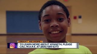 Grant Me Hope: 12-year-old Kenneth likes basketball, swimming, math and cars - Video