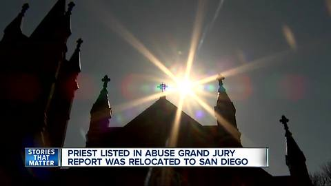 Priest listed in grand jury report was relocated to San Diego