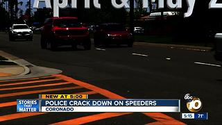 Police crack down on Coronado speeders - Video