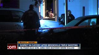 Suspect in custody after triple shooting