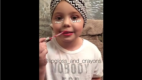 Adorable Little Girl Completes Awesome Contouring Makeup Tutorial