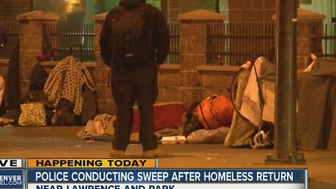Denver homeless sweep only moved homeless