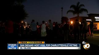 San Diegans host vigil for Charlottesville victims - Video