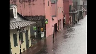 Flash Flooding Fills French Quarter Streets in New Orleans