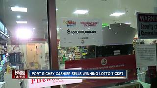 Port Richey clerk who sold winning Mega Millions ticket says she has no idea who won - Video