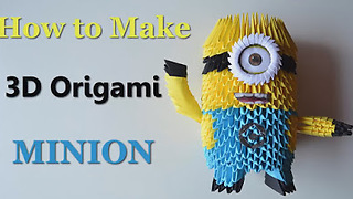 DIY paper crafts: How to make an origami Minion