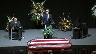 Indianapolis Mayor Joe Hogsett delivers rememberance at funeral for IMPD Deputy Chief  James Waters - Video
