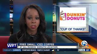Get free small iced coffee Monday at Dunkin' Donuts - Video