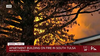 Apartment Building On Fire In South Tulsa