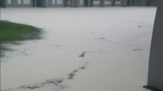 Severe Flooding Outside Montego Bay High School - Video