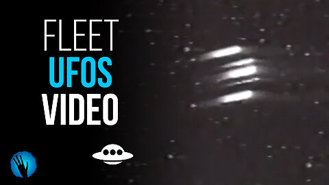 Is this Air Force video showing a fleet of UFOs?