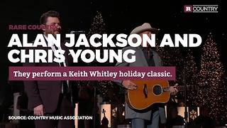 Alan Jackson and Chris Young perform a holiday classic | Rare Country - Video