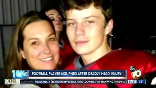 Football player mourned after deadly head injury - Video