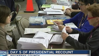 Wisconsin recount enters day 5 with no significant issues