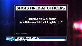 Greenfield police officers shot at during chase - Video