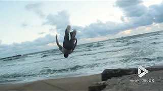 Double Gainer at the beach - Video