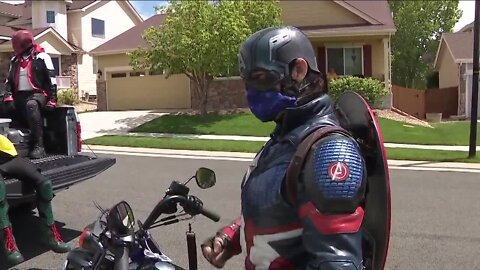 Group of Local Costumed Superheroes Brighten Up Days of Kids Around Colorado