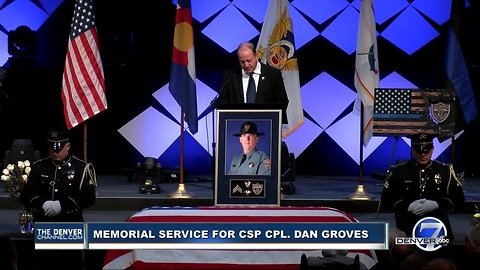 Gov. Polis gives eulogy at CSP corporal's funeral service