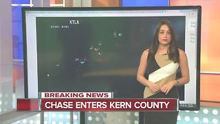Los Angeles Car Chase Enters Kern County - Video