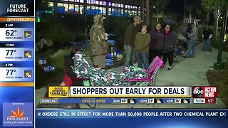 Shoppers out early at Bass Pro Shop on Black Friday
