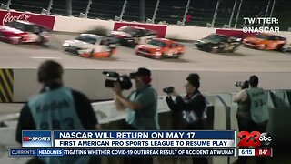 NASCAR returns on May 17