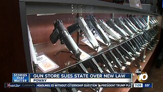 Poway gun store sues state over new law