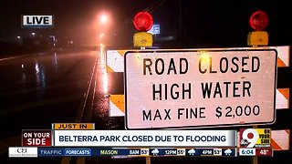 Belterra Park closed due to flooding