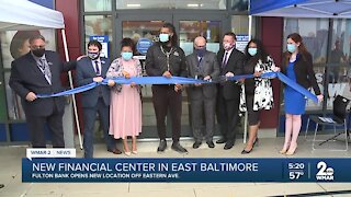 New financial center opens in East Baltimore