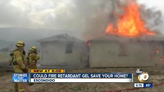 Could fire retardant gel save your home?