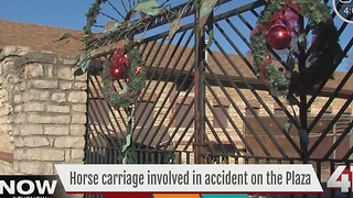 Horse carriage involved in accident on the Plaza - Video