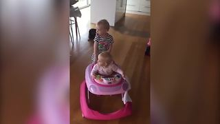 Two Sisters Love Their Walker - Video