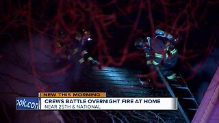Home on Milwaukee's west side catches fire overnight
