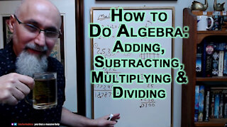 Math Basics Tutoring Session: Adding, Subtracting, Multiplying & Dividing, How to Do Algebra [ASMR]