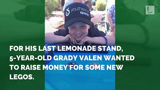 5-Year-Old Selling Lemonade for Fallen Soldiers Gets Surprise from Police - Video