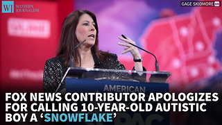Fox News Contributor Apologizes For Calling 10-Year-Old Autistic Boy A 'Snowflake' - Video