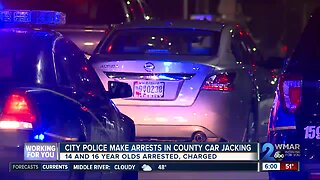 Four teens arrested in car stolen in Baltimore County