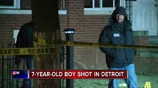 7-year-old boy shot on Detroit's east side - Video