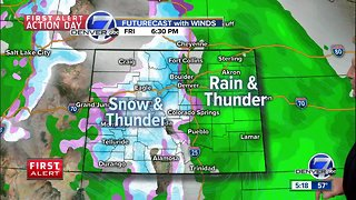 A mild and moist Spring storm for Colorado
