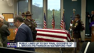 People lined up out the door for first visitation service for L Brooks Patterson