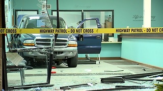 Truck left inside Akron BMV after failed ATM theft attempt - Video