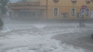 Heavy Rains Flood Streets in Northern Italy - Video