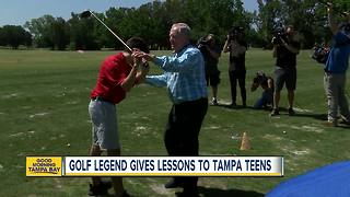 Golf legend Jack Nicklaus gives Tampa students some lessons on golf and life - Video