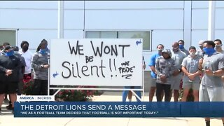 Detroit Lions players stand together after Jacob Blake shooting: 'Football is not important today'