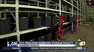 City finalizing homeless storage facility - Video