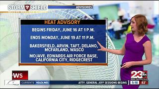 Bakersfield is looking at 90's for the week then triple digits for the weekend - Video