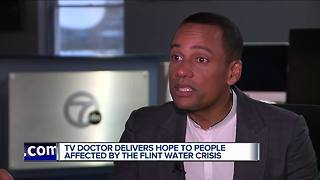 Hill Harper delivers hope to people affected by the Flint Water Crisis
