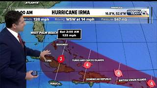 8 a.m. Hurricane Irma update (9/4/17) - Video