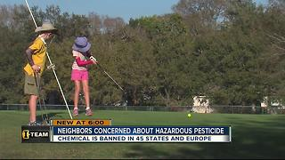 Neighbors concerned about hazardous pesticide on gulf courses - Video