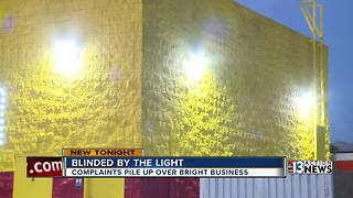 Neighbors tired of Las Vegas tire shop's lights